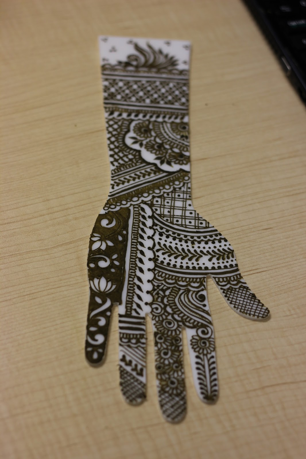 Bridal Henna Practice with Acrylic Hand Template