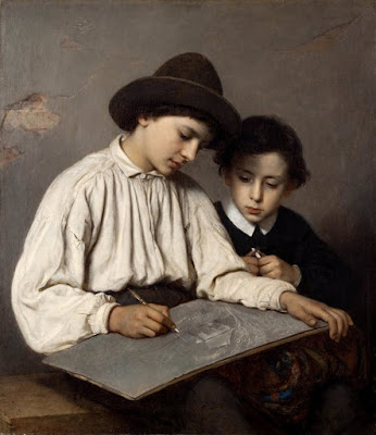 Boys Drawing (1864), Sofie Ribbing