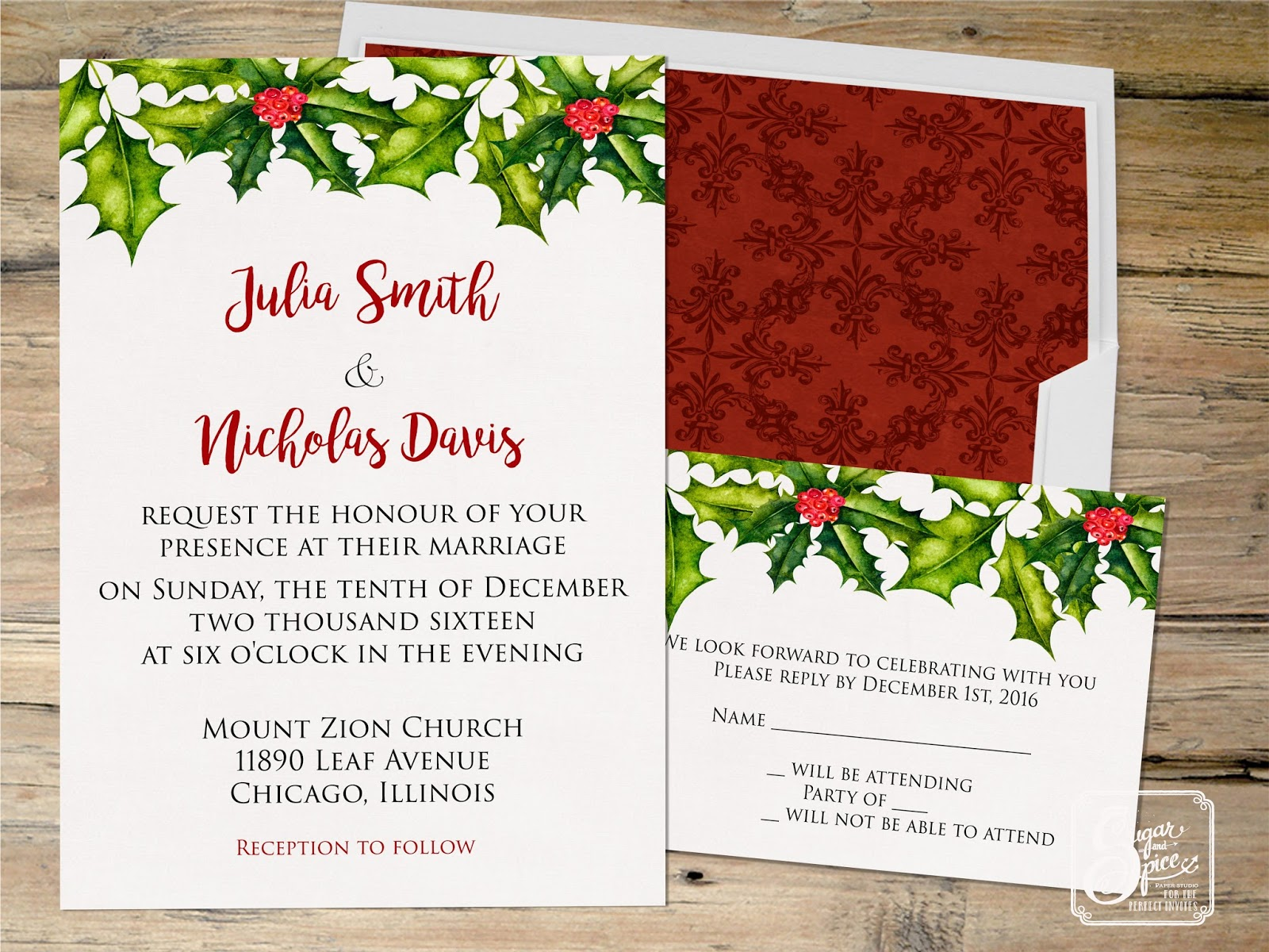 Modern Wedding Evening Invitation Image - Invitations and ...