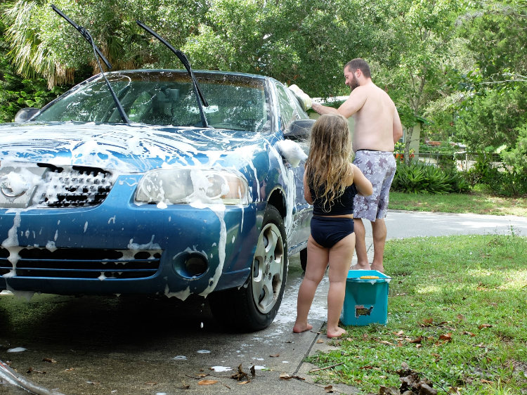 Sweet Turtle Soup - Summer Bucket List | car wash