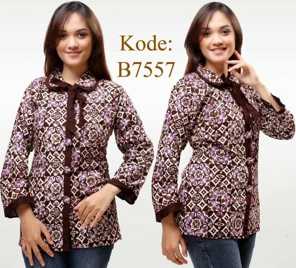 7 Model Baju Batik Kantor Wanita Trendy Elegan 1000 Model Baju