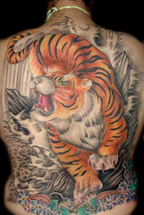 white tiger tattoos designs
