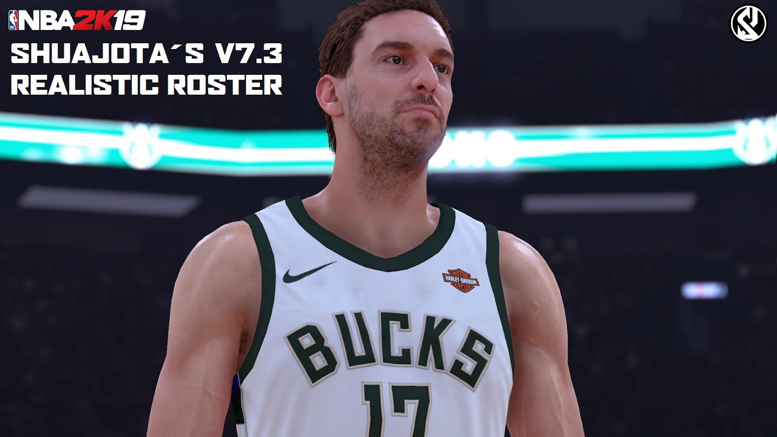 brand new 451f7 44a4b NBA 2K19 - Shuajota´s Realistic Roster Update v7.3 [Pau ...
