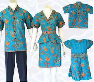 Model Batik Keluarga dan Anak Modern