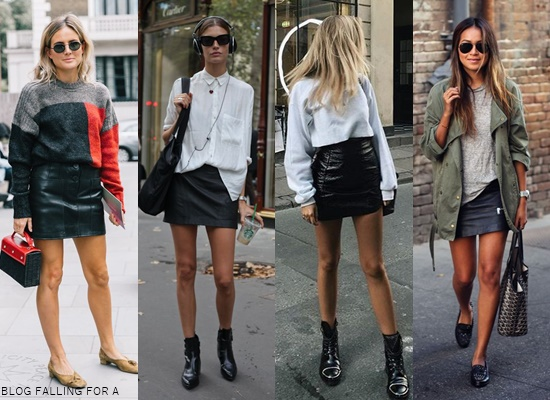 HOW TO WEAR A LEATHER SKIRT Blog Falling for A