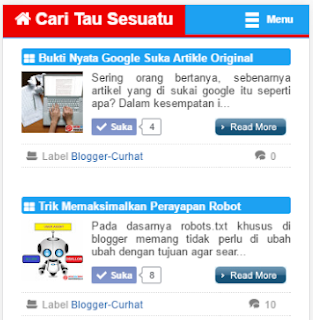 kalautau.com - Float Menu On Top versi mobile