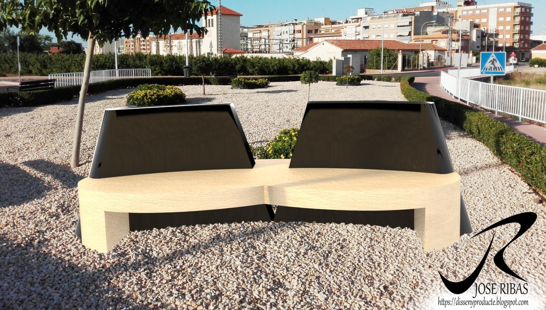 Dise o de banco de jard n para exteriores disseny for Bancos exteriores jardin