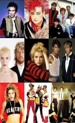 80s pop stars montage poster
