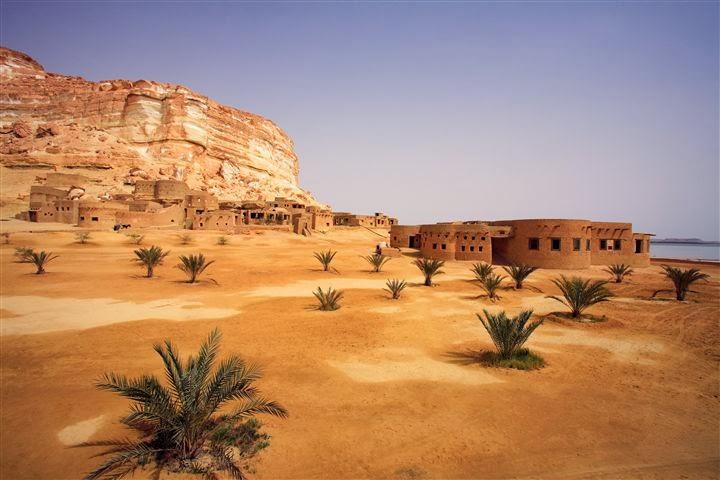 Las ruinas del Oasis de Siwa en el Desierto Occidental de Egipto
