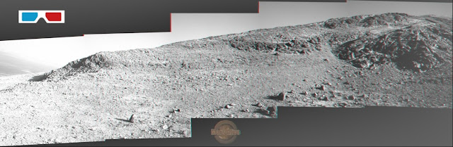 3D - Sol 4183 Opportunity Left Pancam Filter 2 Marathon Valley
