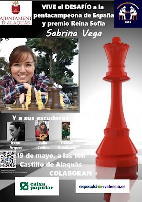 Simultània Sabrina Vega, Ajuntament Alaquàs, Club Escacs Alaquàs, Caixa Popular, Expocolchonvalencia.es