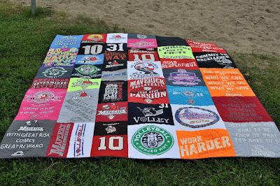 Gabrielle's T-shirt quilt
