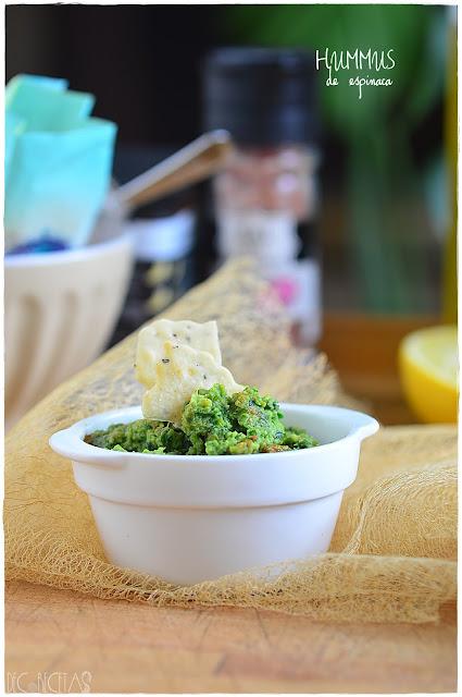 Hummus de espinaca