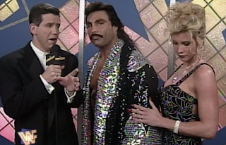 WWF / WWE SUMMERSLAM 1996 - Wildman Marc Mero and Sable talk about Mero's match with Goldust