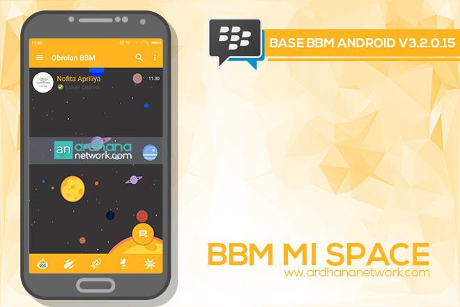 BBM Mi Space - BBM MOD Android V3.2.0.15