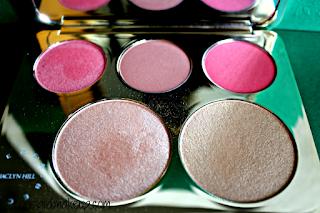 Swatches e Prime Impressioni Palette Becca Cosmetics interno cialde
