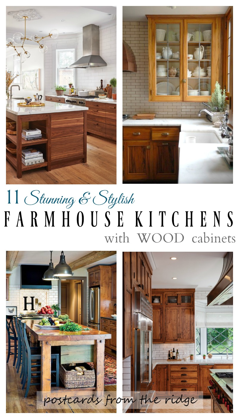 Kitchen Wood Cabinets White Distressed Table 11 Stunning Farmhouse Kitchens That Will Make You Want Such Gorgeous And They All Have Love Postcards From The Ridge