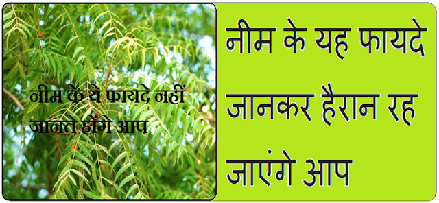 Benefits of neem in Hindi