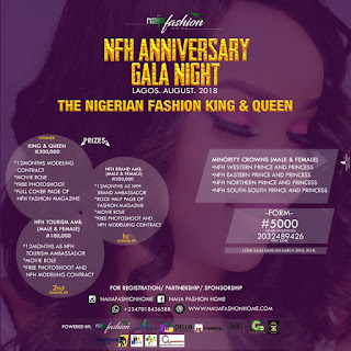 NFH Gala Anniversary Night, which is scheduled to Begin on August 21ST–26TH 2018 at Lagos Nigeria, The Fashion company(NFH) has decided to host free Photoshoots in all state's in Nigeria.