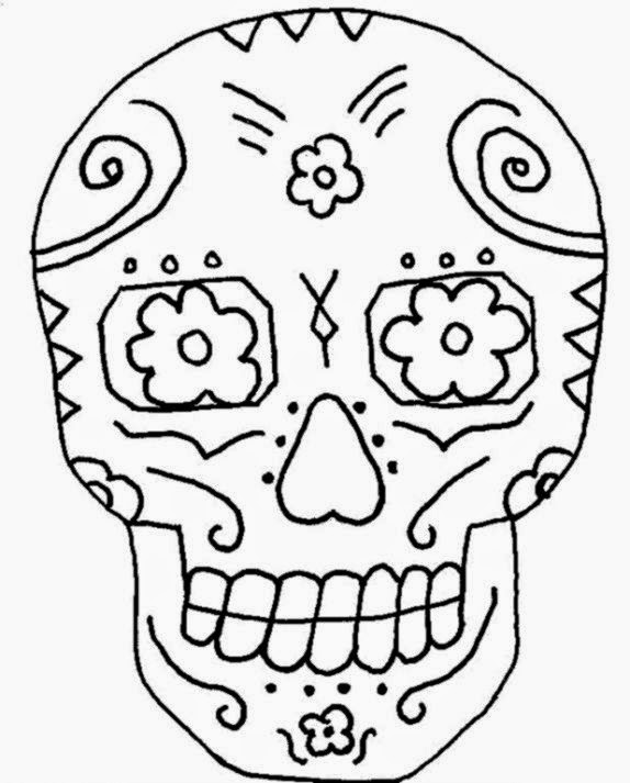 Day Of The Dead Coloring Sheets | Free Coloring Sheet