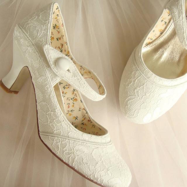 Ivory Lace Wedding Flats