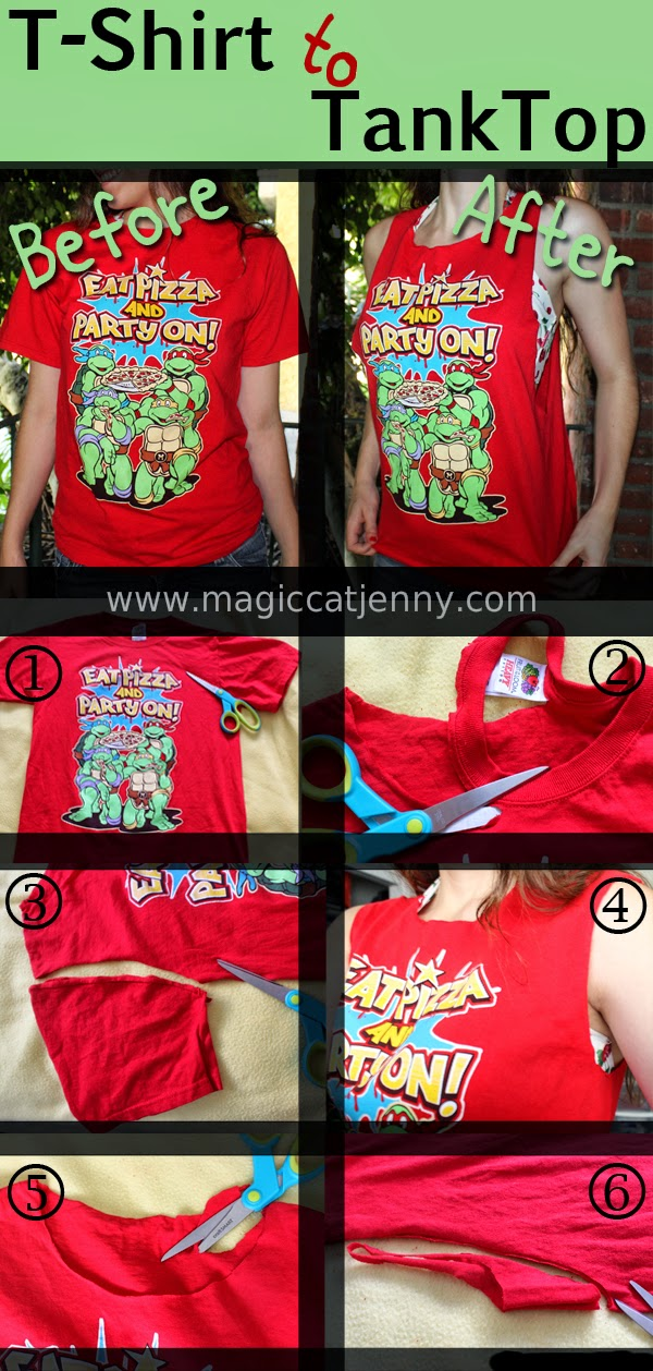 52def2eb44301e MagicCatJenny  How To Turn a T-Shirt into a Tank Top - DIY