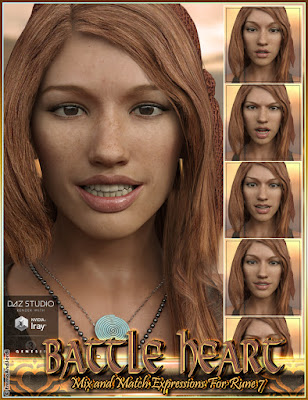 http://www.daz3d.com/battle-heart-mix-and-match-expressions-for-rune-7-and-genesis-3-female-s
