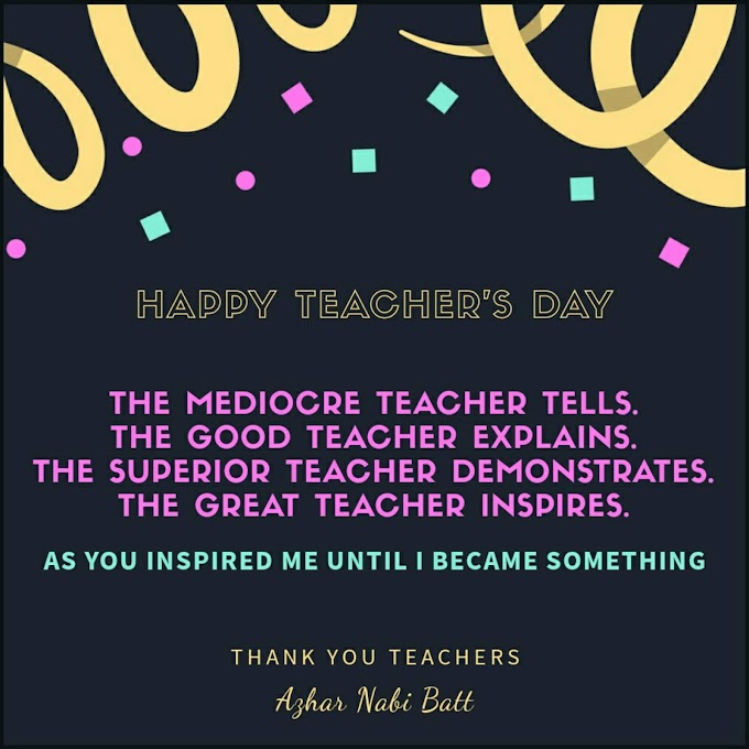 Happy Teacher's Day - Thought