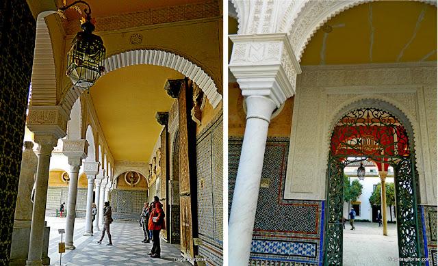Pátio central da Casa de Pilatos, Sevilha