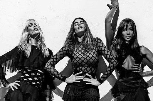 Cindy Crawford, Claudia Schiffer e Naomi Campbell insieme per Balmain Paris