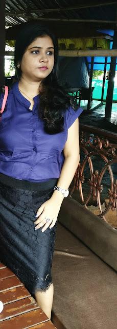 OOTD | Vintage Lace & Blue