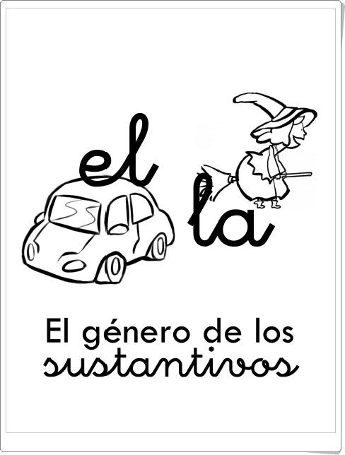 """Cuadernillo """"El género de los sustantivos"""" (Lengua de Primaria)"""