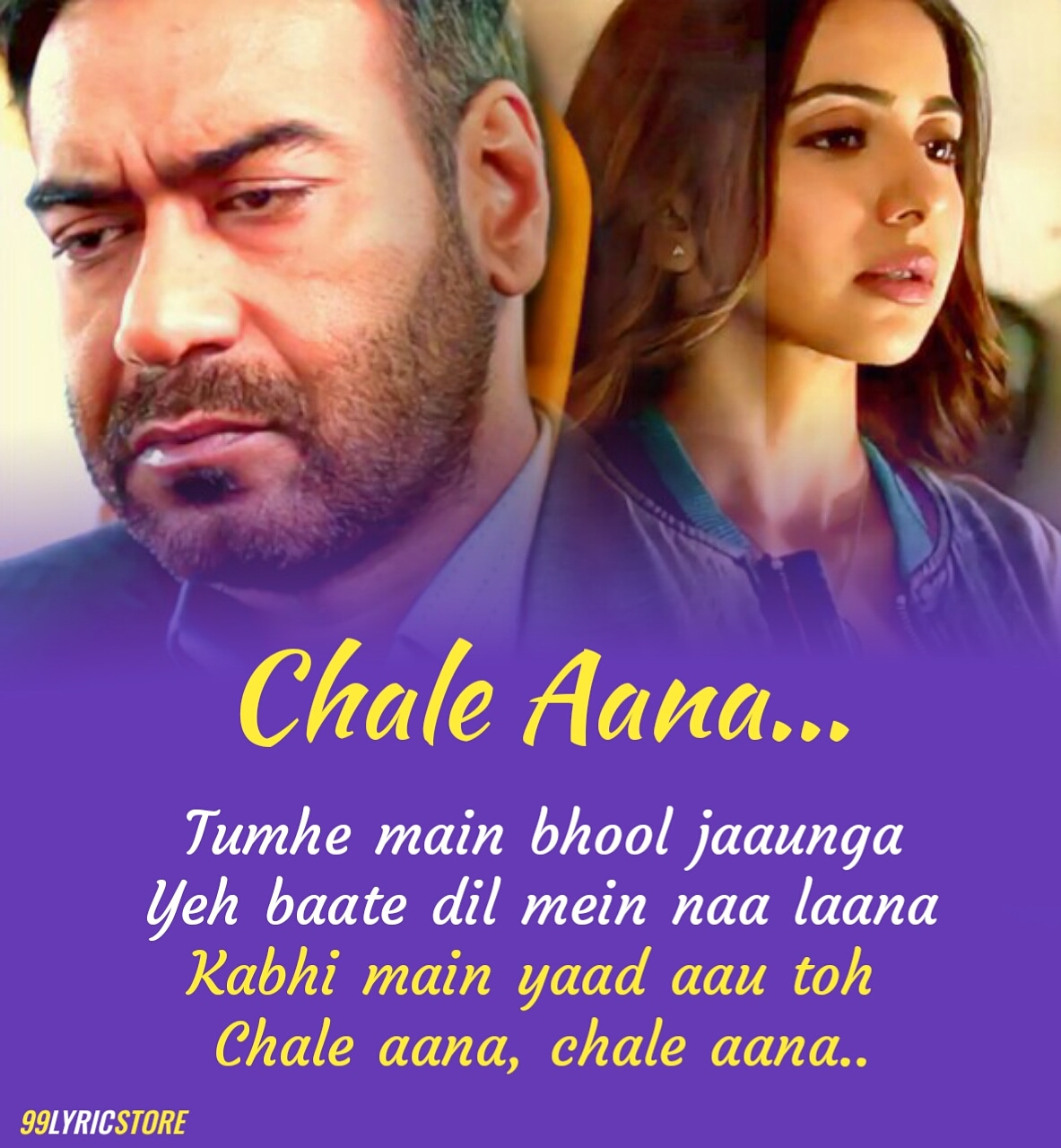 Chale Aana Sad Hindi Song Lyrics From Movie De De Pyaar De Sung by Armaan Malik
