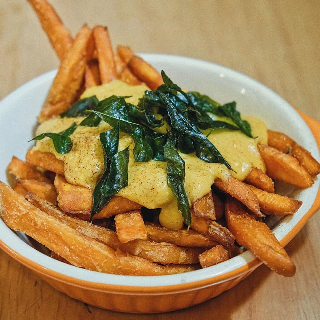 Sweet Potato Fries with Salted Yolk Sauce