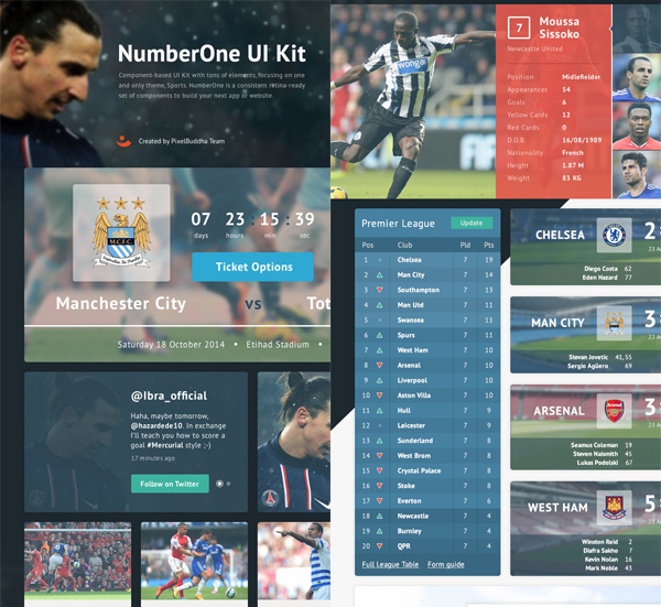 Number One UI Kit PSD