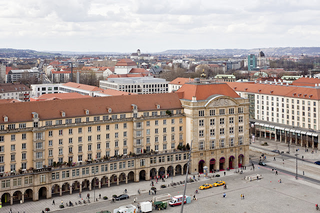 Antiga Praça do Mercado em Dresden