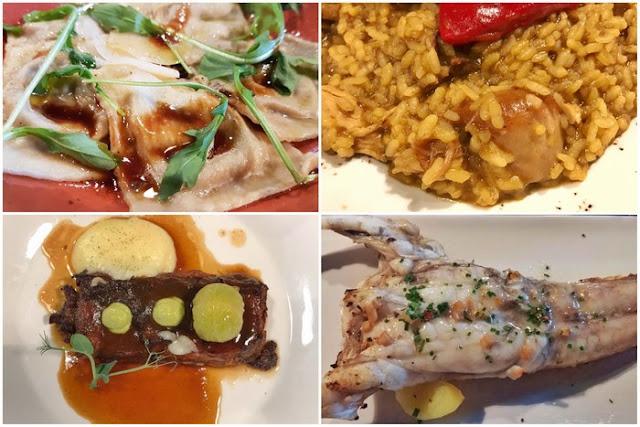 Platos en el Restaurante Gloria de Nacho Manzano en Gijon