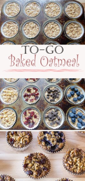 To-Go Baked Oatmeal Recípe