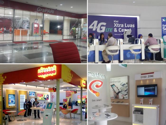 Galeri Telkomsel Indosat XL Tri Smartfren di Bandung