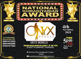 Onyx Modeling Agency to Receive 'National Humanitarian Award' This November in Abuja