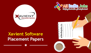 Xavient Software Placement Papers