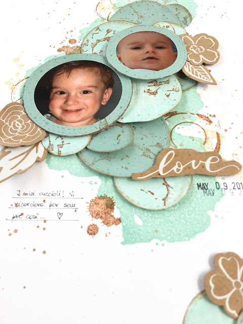Forever Babies Scrapbook Layout by Angela Tombari for The Robin's Nest DT