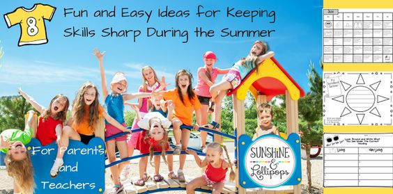Here it is...what you have all been looking for....8+Funs and Easy Ways for Keeping SkillsSharp During those Summer Months...Bet you will LOVE them ALL...My fave is # 7 width=