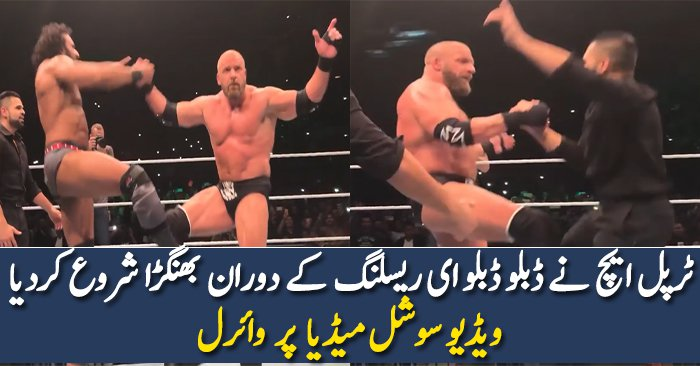 Triple H does Bhangra with Jinder Mahal at WWE