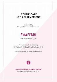 e-certificate blogger perempuan 30 days blog challenge