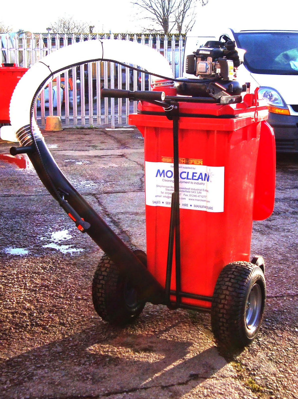 trolley vac litter collecting vacuum cleaner outdoor use morclean