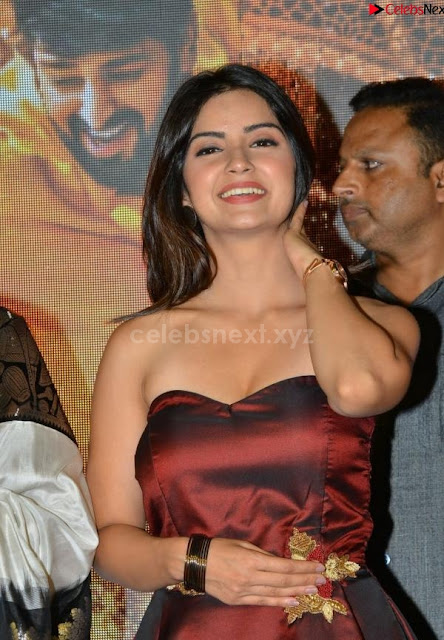 Actress Kashmira Paradeshi Stunning Cute Smile Deep Neck Shoulder less Gown~ .xyz Exclusive 001.JPG