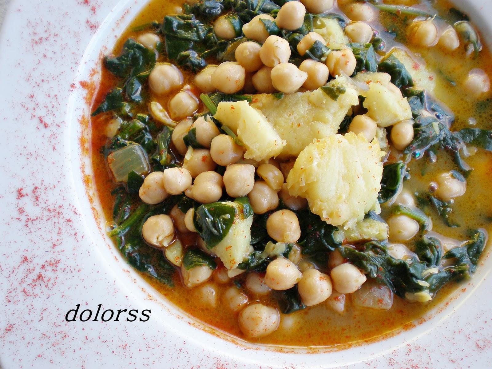 Blog de cuina de la dolorss garbanzos pedrosillano con - Repollo en olla express ...