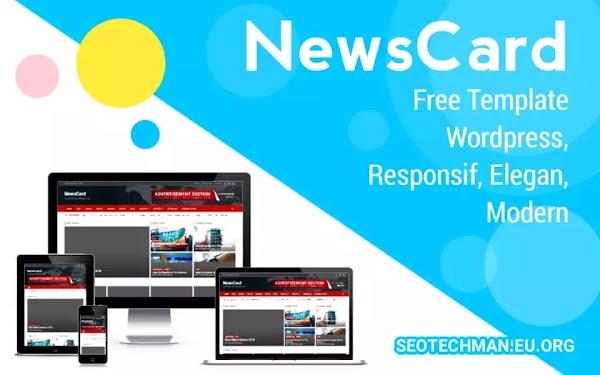 Download Template Wordpress NewsCard, Responsif, Clean, dan Modern