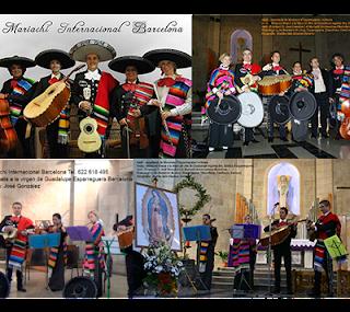 Concierto de la virgen de Guadalupe en Esparraguera Mariachi Internacional Barcelona